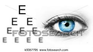 Photography Test Chart Eye Test Chart And Blue Human Eye Stock Photography