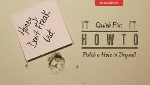 quick fix how to patch a hole in