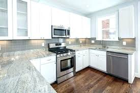 Glass Gray Subway Tile Light U Shape White Kitchen Decoration With Grey  Backsplash T . Inch Light Gray ...