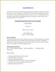 Sample Resume Skills For Hotel And Restaurant Management New
