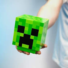 Minecraft Creeper Head Icon Desk Light ...