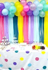 diy backdrops for parties simple birthday party decor ideas adorable s balloon backdrop on 1st