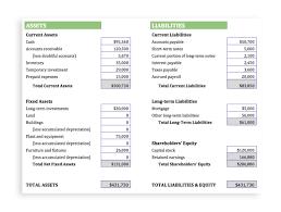 Accounting Balance Sheet Template Accounting Balance Sheet Template Examples 9