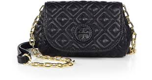 Lyst - Tory burch Marion Quilted Small Crossbody Bag in Black &  Adamdwight.com