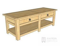 coffee table plans pdf dma homes 54699