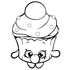 Shopkins Cupcakes Coloring Pages Getcoloringpagescom