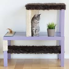 make a homemade cat condo using lack tables