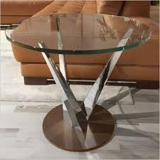 stainless steel modern furniture. neptune end table three prong stainless steel base with glass top scan design modern u0026 contemporary furniture store