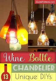 wine bottle chandelier how to make
