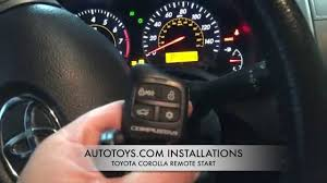 toyota corolla remote start installation and demostration toyota corolla remote start installation and demostration