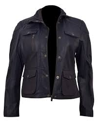 genuine leather womens biker jacket3