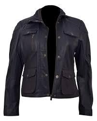 genuine leather womens biker jacket3