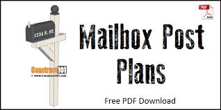 Mailbox post plans Woodworking Mailbox Post Plans Free Pdf Download Construct101 Mailbox Post Plans Pdf Download Construct101