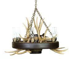 wagon wheel mule deer antler chandelier