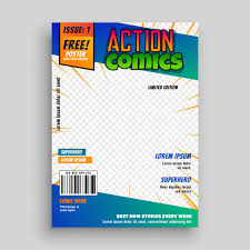 action ic book cover page design free vector