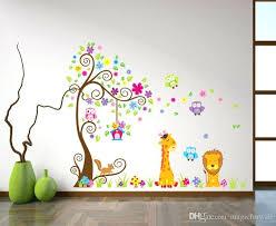 lion wall decal and kids room nursery wall art sticker owl lion giraffe flower tree wall decal decor home wallpaper decor stickers lion king wall decals
