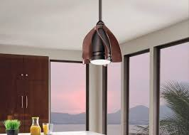 cleverly designed ceiling fans with short curved blades that are ideal for use in tight spaces