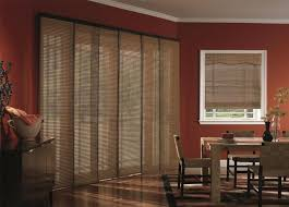 budget blinds woven wood panel track blinds