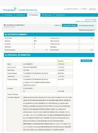 transunion credit report this sle snapshot of a consumer s credit profile includes address accounts