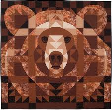 Bear Face Quilt by Janet Fogg. 48