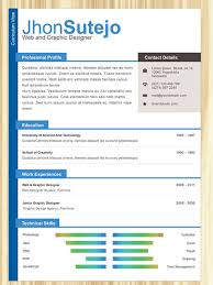 Color Resume Templates Top 10 Free Resume Templates For Web Designers  Template