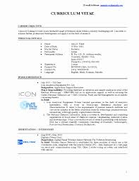 Technical Resume Template New Resume Example It Skills Resume