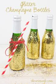diy glitter champagne bottles and a valentine s date in a basket the nerd s wife