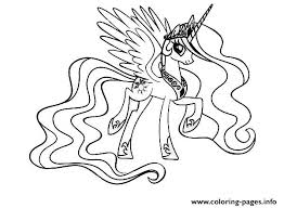Small Picture My Little Pony Cool Princess Celestia Coloring Pages Printable