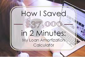 How I Saved $37,000 In Two Minutes: My Loan Amortization Calculator ...