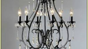 elegant wrought iron crystal chandelier at brilliant gallery rococo 19th c 6 light black and