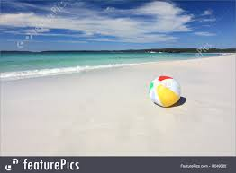 beach ball in sand.  Beach Colourful Beach Ball On The Seashore By Ocean RoyaltyFree Stock Image Intended In Sand S
