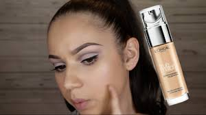 l oreal true match foundation review wear test on oily skin christinemua