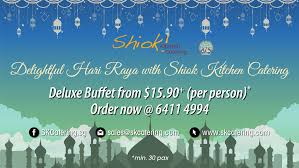 buffet table with food and drinks sk catering singapore