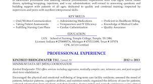 Resume Nursing Skills Resume Amazing Lpn Resume Registered Nurse