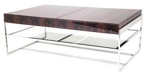 chrome coffee table coffee table chrome glass cross table photo on astounding glass chrome coffee tables