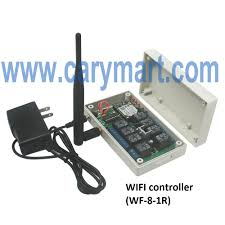 """8 channels relay output wireless wifi controller of remote control here is the circuit diagram of wifi controller you can connect two motors to """"b c"""" output terminal of wifi controller then supply power to wifi"""