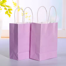 Light Pink Gift Bags Us 11 66 26 Off 20pcs Lot Light Purple Kraft Paper Bag With Handle Wedding Party Favor Paper Gift Bags 21 15 8cm In Gift Bags Wrapping Supplies