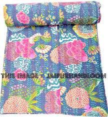 Kantha Quilt In blue, Kantha Blanket, Kantha Throw, Kantha Bedspread, & ... Kantha Quilt In blue, Kantha Blanket, Kantha Throw, Kantha Bedspread,  Floral kantha Adamdwight.com
