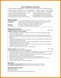 Resume Samples For Experienced Technical Support Save Technical