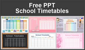 Make A School Timetable Online Free Free Powerpoint Templates