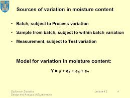 diploma in statistics design and analysis of experiments lecture  4 diploma