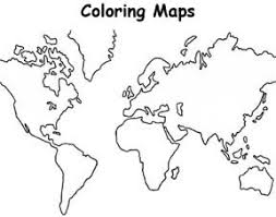Small Picture World Map World Map Of All Continents Coloring Page World Map