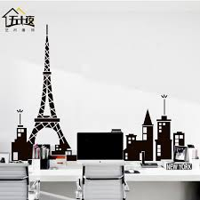 chicago skyline wall decal paris vinyl wall decal paris tower eiffel tower mural art skyline wall