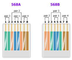cat5 568a wiring data wiring diagrams \u2022 Category 6 Ethernet Cable Diagram what type of cat5 connector do i need when wiring between the rh support airsysnorthamerica com cat5 crossover cat5 568b wiring diagram