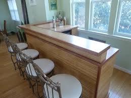 1 5 thick bamboo countertops with sapele mahogany edging 1 8 roundover edge