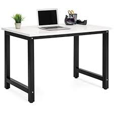 modern computer desk. Unique Modern Best Choice Products Large Modern Computer Table Writing Office Desk  Workstation  WhiteBlack To E
