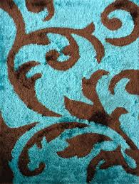 stylish inspiration turquoise area rugs imposing decoration soft indoor bedroom rug brown with leather dining blue fur plush for s cream living