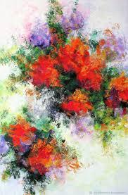 flower paintings handmade livemaster handmade palette knife painting on canvas