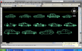 Car Design In Autocad 2d Library Car Blocks In Autocad 2d