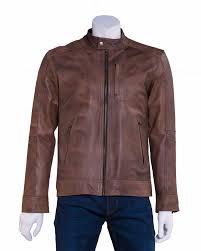 men s leather jacket collection rnlj3 dk brown
